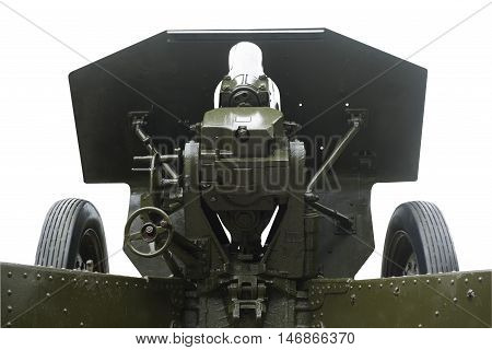 sighting system and charging 122 - mm howitzer ( M-30 ) of the Soviet army in 1938 the sample was used in World War II