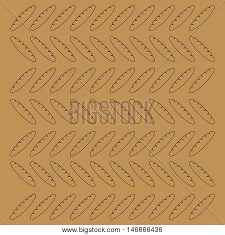 flat design bread pattern background image vector illustration