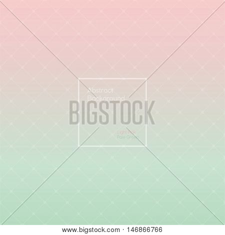 Gradient Light Rose and Pale Green colored triangle polygon pattern vintage background. Abstract geometrical background made up with triangular and rhombus shapes. Brochure poster design.