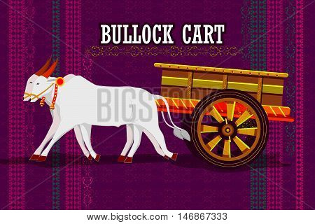 easy to edit vector illustration of Indian Bullock cart representing colorful India