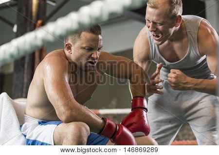 Boxing Coach Screaming