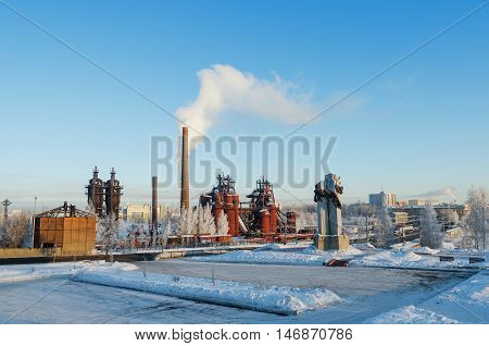 NIZHNY TAGIL RUSSIA - FEBRUARY 13 2016: Plant - Museum of the history of mining technology. The plant was founded by Demidov's dynasty in 1725.