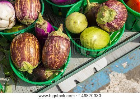 Udumalpet heirloom Eggplants at the local market