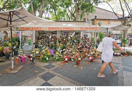 Flower Stands On La Rambla