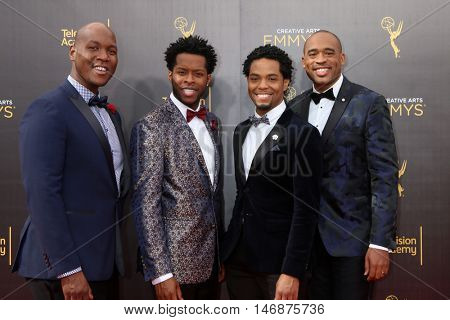 LOS ANGELES - SEP 11:  Sons of Serendip at the 2016 Primetime Creative Emmy Awards - Day 2 - Arrivals at the Microsoft Theater on September 11, 2016 in Los Angeles, CA