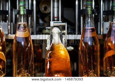 Automation Bottling Line For Produce Champagne In Alsace