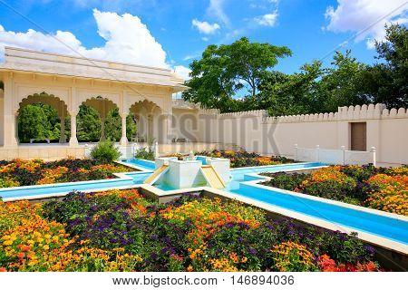 Hamilton, Nz - February 25, 2015: Indian Char Bagh Garden In Hamilton Gardens