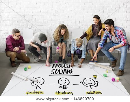 Problem Solving Creative Thinking Brainstorm People Concept