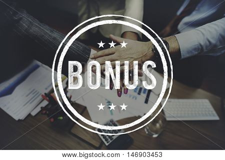 Bonus Prize Profit Incentive Additional Compensation Concept