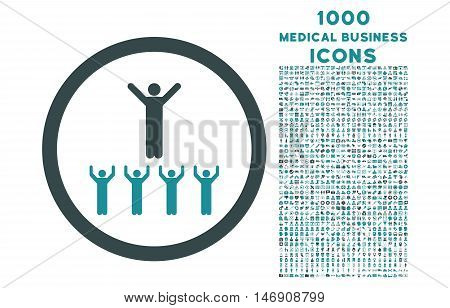 Religion Adepts rounded glyph bicolor icon with 1000 medical business icons. Set style is flat pictograms, soft blue colors, white background.