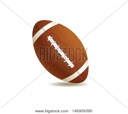 vector illustration of sport ball american football
