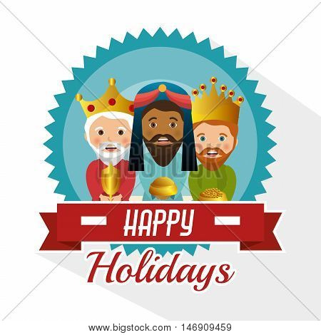 three wise kings manger design design vector illustration eps 10