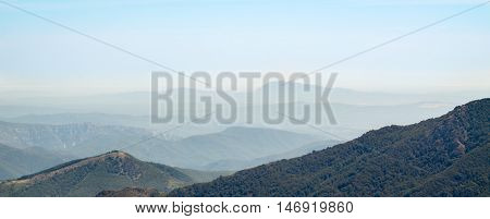 A view on the mountains in the French Cevennes