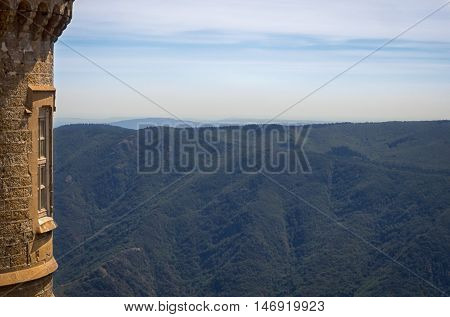 A view from Mont Aigoual in France on the Cevennes