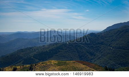 A view on the mountains of the French Cevennes