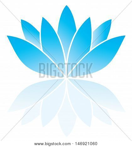 vector illustration of a blue lotus flower