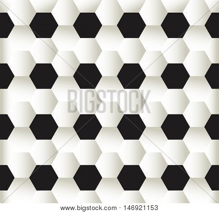 vector illustration of seamless pattern football soccer background