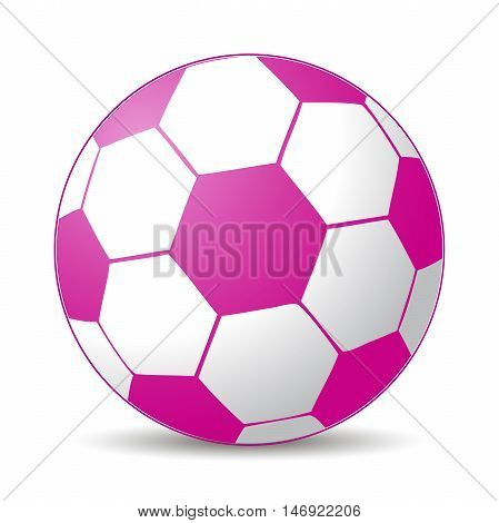 pink soccer ball for girls play game