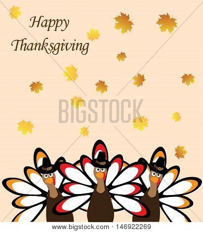 vector illustration of a thanksgiving turkey background