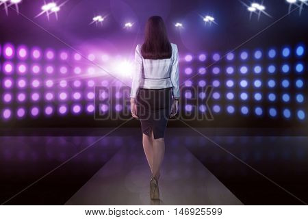 Back View Asian Model Woman