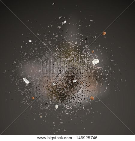 realistic explosion background for your banner or design.