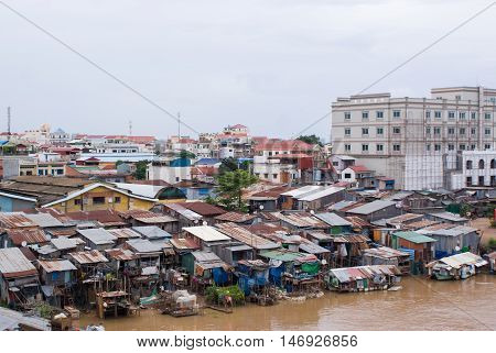 Poor Part Of The City. Capital Of Cambodia