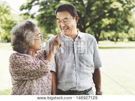 Senior Couple Relax Lifestyle Concept
