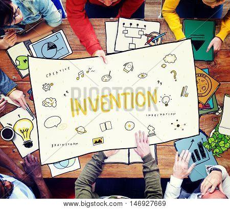 Creation Ideas Light Blue Imagination Arts Development Concept