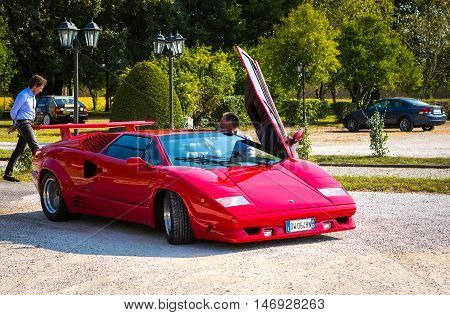 Mogliano VenetoItaly Sept 112016:Photo of a Lamborghini 25th Anniversary Countach at meeting Top Selection 2016. Named to honour the company's twenty-fifth anniversary in 1988 the 25th Anniversary Countach.