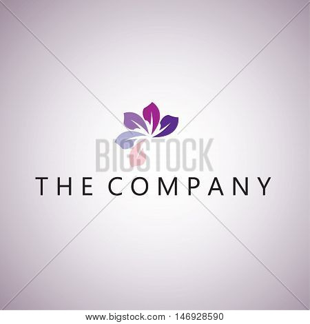 flower logo ideas design vector illustration on background