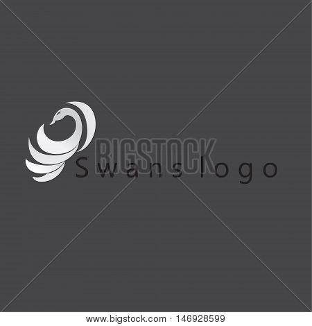 swans logo ideas design vector illustration on background