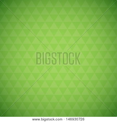 Abstract green triangle background, simple vector illustration