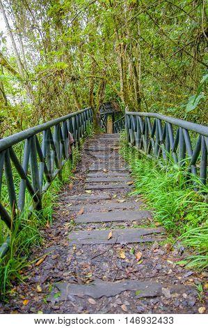 PASTO, COLOMBIA - JULY 3, 2016: la corota is a small island located in the center of la cocha lake.