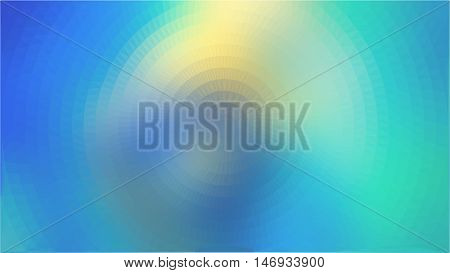 Blue green yellow triangle circle abstract background