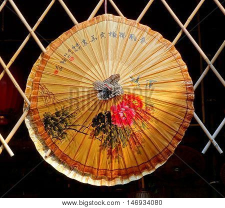 Chinese Hand-painted Oil-paper Umbrella
