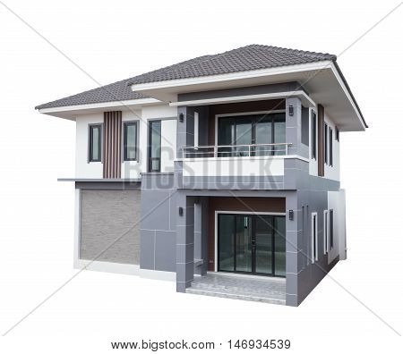 House Modern Contemporary Style Isolated On White