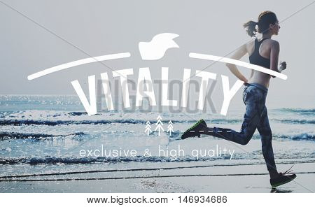 Vitality Vital Vigorous Live Life Energy Active Concept