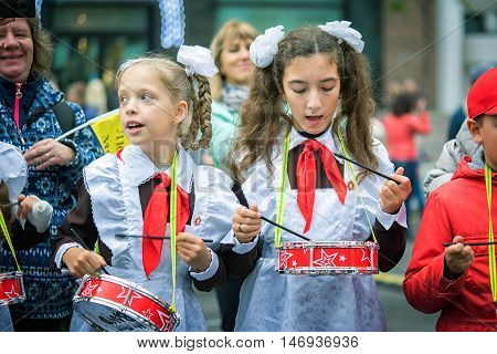 Russia, Moscow - September 11, 2016: Moscow City Day. Moscow Residents And Guests Celebrate The 869