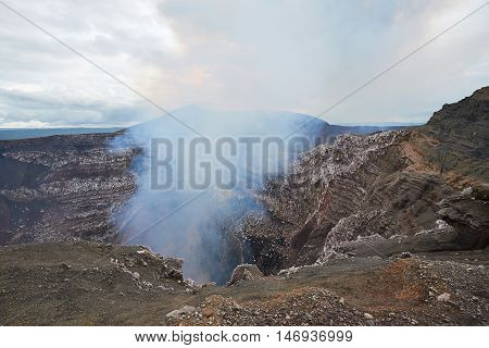 Boarder Of Volcano Crater