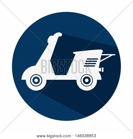icon motocycle scooter delivery design isolated vector illustration eps 10