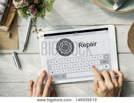 Configuration Fix Repair Settings Graphic Concept