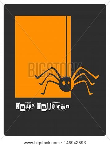 Halloween spider concept. card or banner background for Halloween Party night. vector illustration