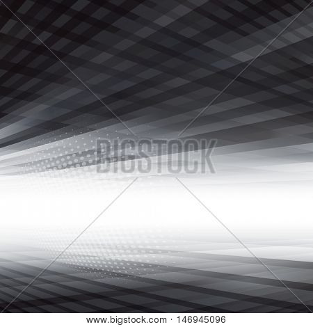 Abstract virtual perspective space background.