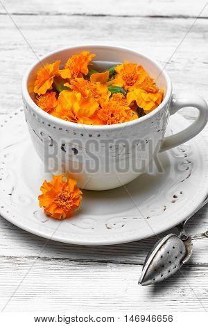 Tea With Marigolds