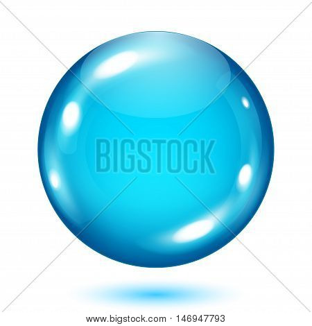 Opaque Light Blue Sphere