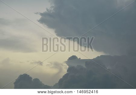 cloud on dull sky in raining season