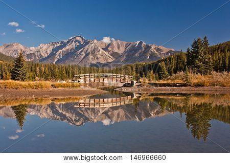 Mirror Lake at Cascade Mountain, Banff NP, Canada