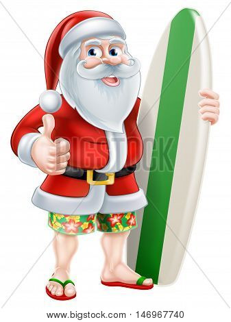 Cartoon Summer Santa