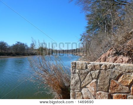River View Of The Brazos River, Tx