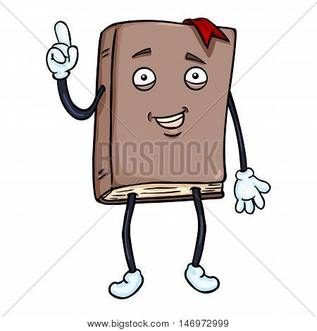 Vector Cartoon Character - Lively Brown Book
